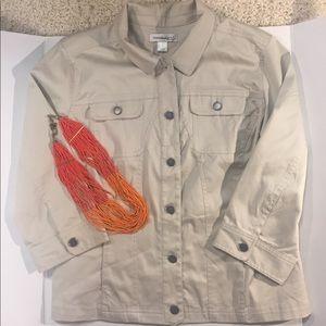 [Christopher & Banks] khaki blazer jacket large